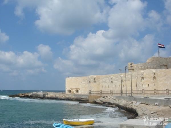 亚历山大灯塔遗址.这是地中海~