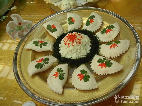 食品雕刻山羊图片