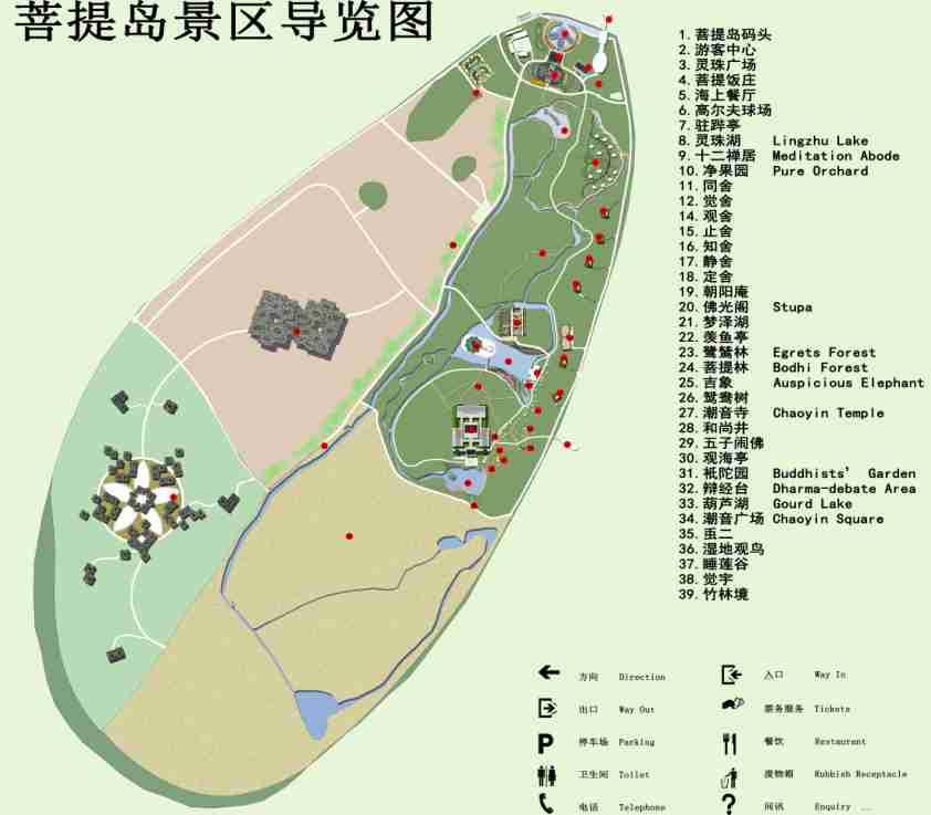 菩提岛景区导览图